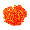 100+ St. Stiftperlen Orange Silber 11mm #659