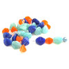 30 Glasperlen Nuggets | Mix Blau Türkis Orange Opal 6-8mm - pe2581