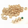 20 Glasperlen Nuggets | Crystal mit Goldsternchen 7mm - pe3062