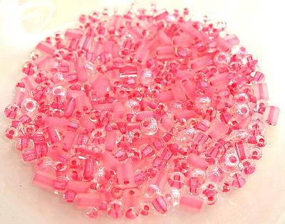 390+ St. Rocailles Mix Crystal Rosa Pink · 589