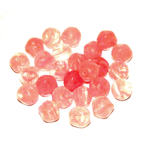 25 Glasperlen Nuggets | Rosa Crystal 6mm - pe3310