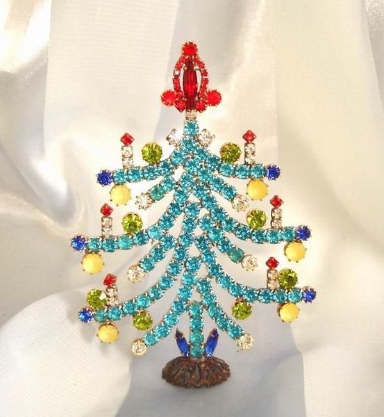 strass weihnachtsbaum t rkis multicolor unikat swb342. Black Bedroom Furniture Sets. Home Design Ideas