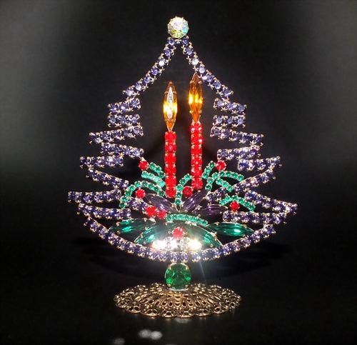 Weihnachtsbaum aus glas leer