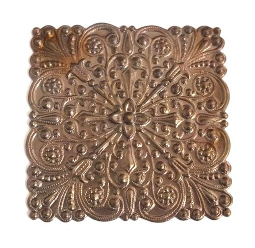 1 Messingteil · Quadrat · Ornament 45x45mm - mt602