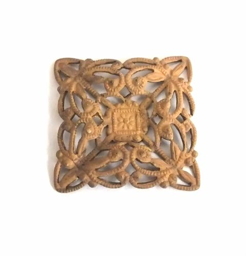 1 Messingteil · Quadrat · Ornament 20x20mm - mt604