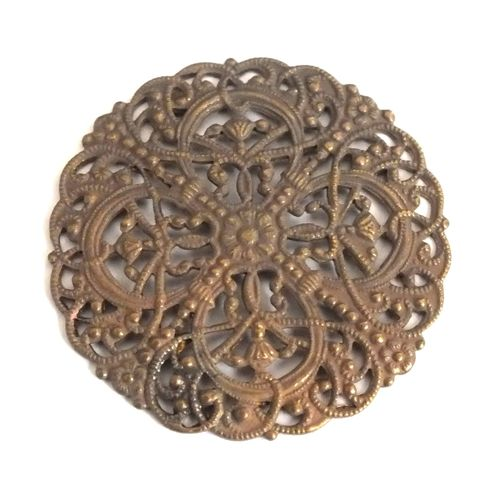 1 Messingteil · Rosette · Ornament 37mm - mt605
