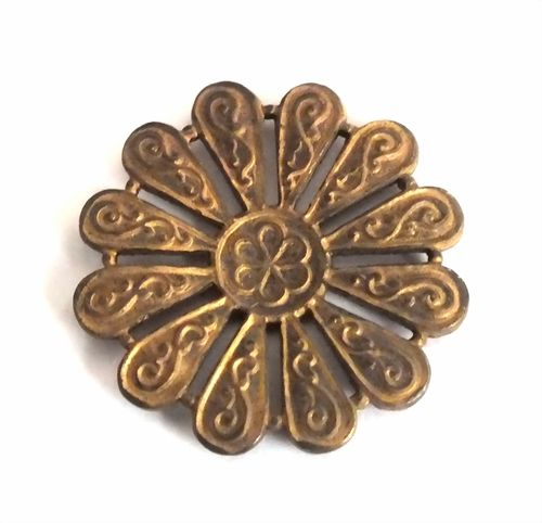 1 Messingteil · Rosette · Ornament 25mm - mt607